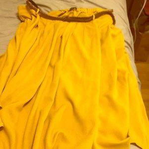 Yellow ModCloth Skirt with belt